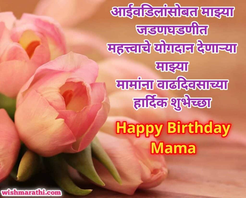 मामा वाढदिवसाच्या हार्दिक शुभेच्छा